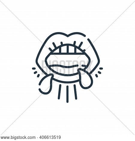 mouth icon isolated on white background from coronavirus prevention collection. mouth icon thin line