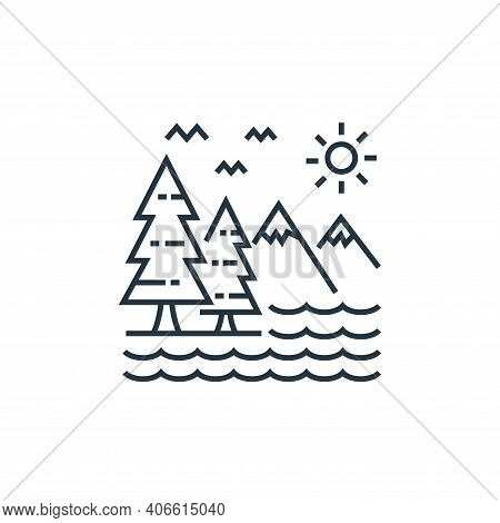 mountains icon isolated on white background from tourism collection. mountains icon thin line outlin