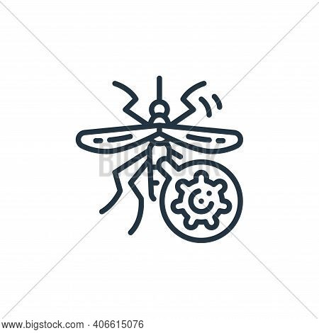 mosquito icon isolated on white background from virus transmission collection. mosquito icon thin li