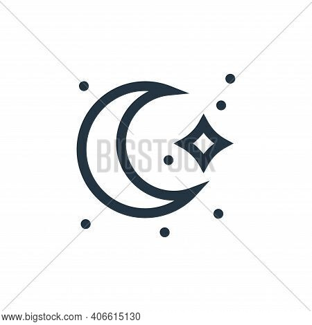 moon icon isolated on white background from magic collection. moon icon thin line outline linear moo
