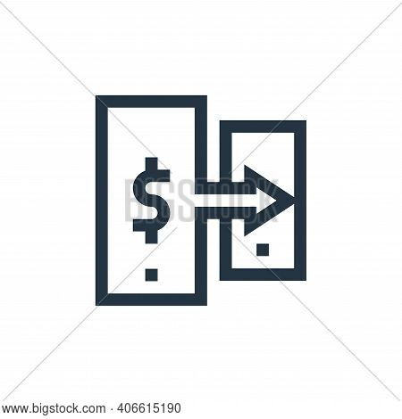 money transfer icon isolated on white background from payment collection. money transfer icon thin l