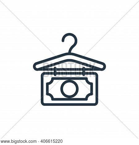 money laundering icon isolated on white background from money collection. money laundering icon thin