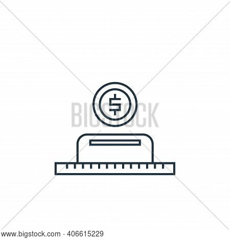 money deposit icon isolated on white background from online shopping collection. money deposit icon
