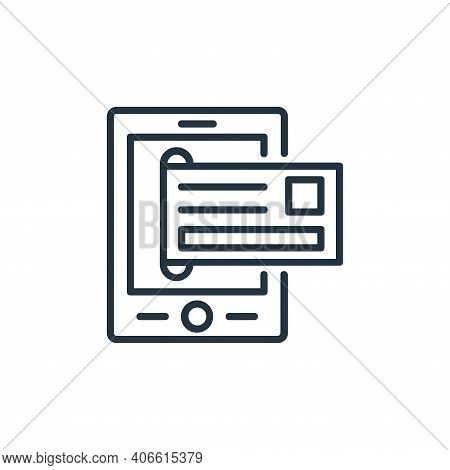 mobile banking icon isolated on white background from shopping line icons collection. mobile banking