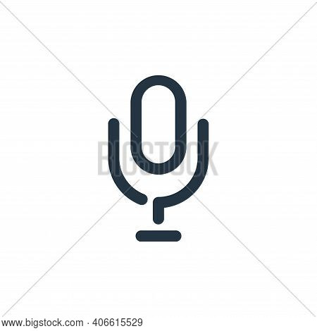 microphone icon isolated on white background from sound collection. microphone icon thin line outlin