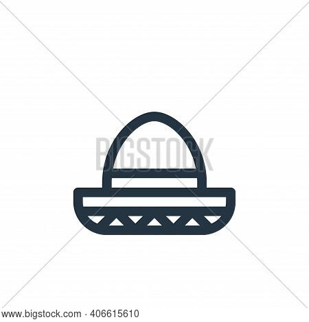 mexican hat icon isolated on white background from cinco de mayo collection. mexican hat icon thin l