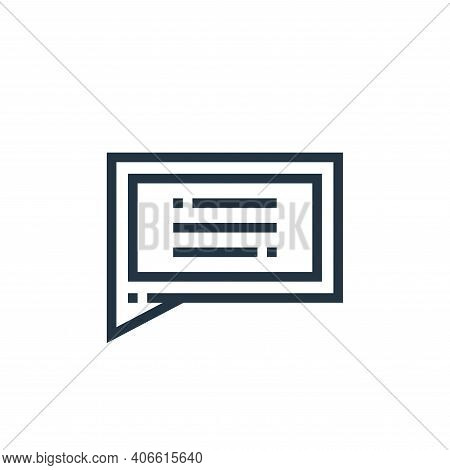 messages icon isolated on white background from web essentials collection. messages icon thin line o