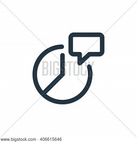 message icon isolated on white background from web apps seo collection. message icon thin line outli