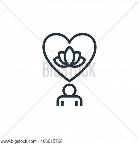 mental icon isolated on white background from work life balance collection. mental icon thin line ou