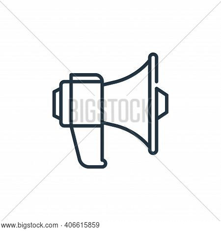 megaphone icon isolated on white background from management collection. megaphone icon thin line out