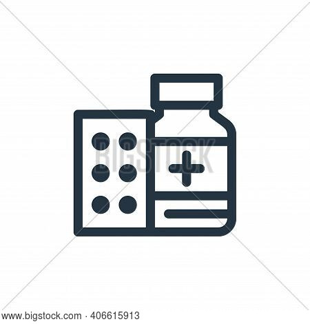medicine drug icon isolated on white background from medical tools collection. medicine drug icon th