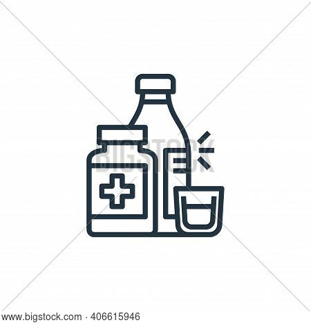 medicine icon isolated on white background from hospital collection. medicine icon thin line outline
