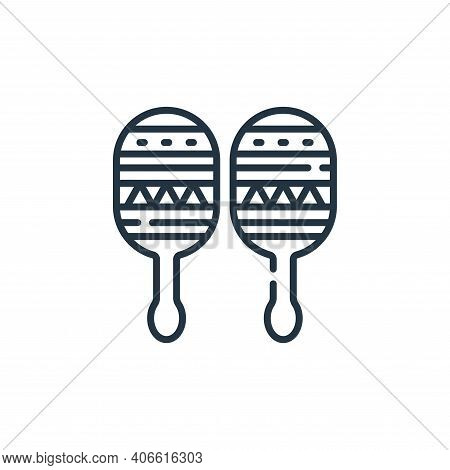 maracas icon isolated on white background from mexico collection. maracas icon thin line outline lin