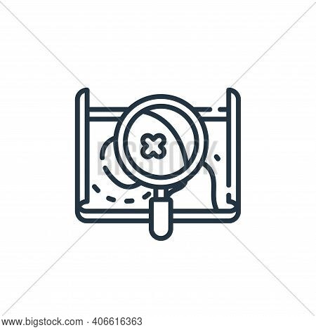 map icon isolated on white background from navigation and maps collection. map icon thin line outlin