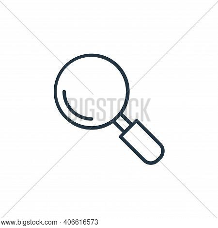 magnifier icon isolated on white background from shopping line icons collection. magnifier icon thin