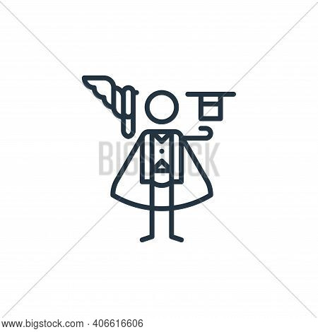 magician icon isolated on white background from general arts collection. magician icon thin line out
