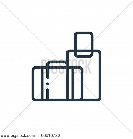 luggage icon isolated on white background from taxi service collection. luggage icon thin line outli