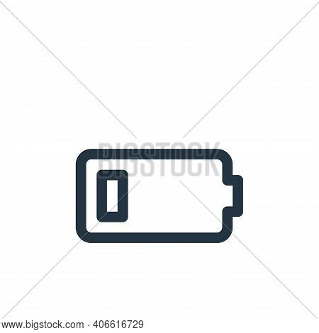 low battery icon isolated on white background from user interface collection. low battery icon thin