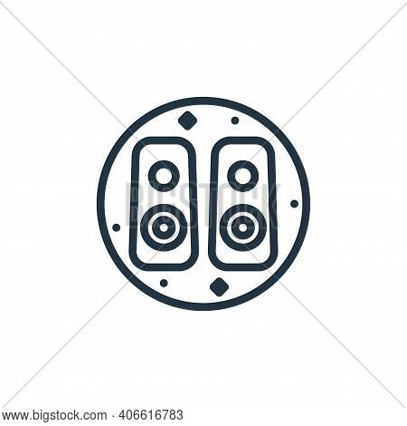 loudspeaker icon isolated on white background from music and sound collection. loudspeaker icon thin