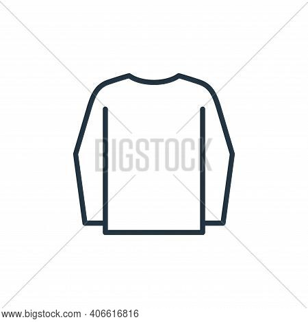 long sleeves icon isolated on white background from wardrobe collection. long sleeves icon thin line