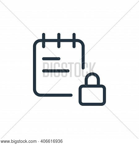 locked icon isolated on white background from work office supply collection. locked icon thin line o