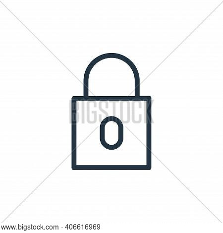 lock icon isolated on white background from banking and finance flat icons collection. lock icon thi