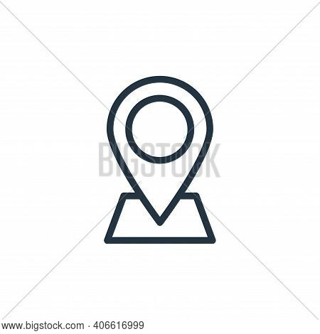 location pin icon isolated on white background from photography collection. location pin icon thin l