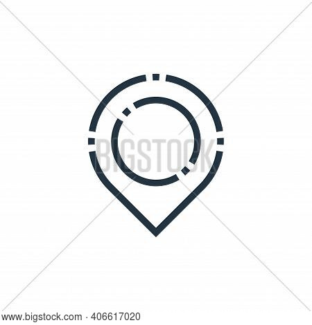 location icon isolated on white background from web essentials collection. location icon thin line o