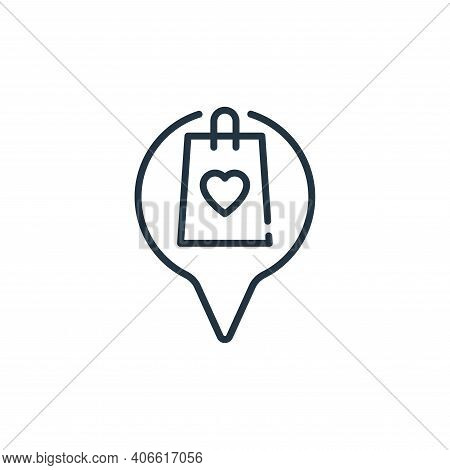location icon isolated on white background from mall collection. location icon thin line outline lin