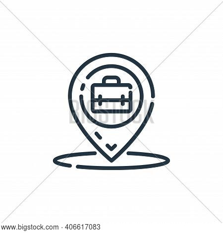 location icon isolated on white background from startup collection. location icon thin line outline