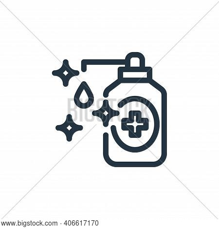 liquid soap icon isolated on white background from personal hygiene collection. liquid soap icon thi
