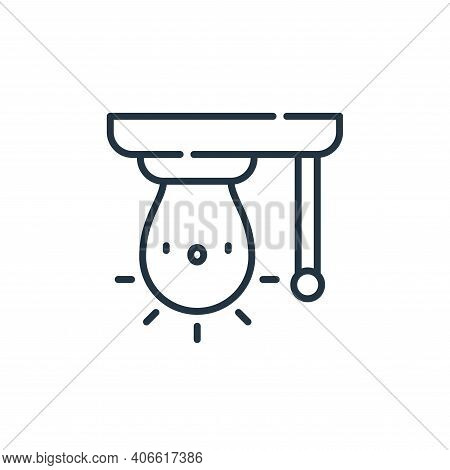 light bulb icon isolated on white background from electrician tools and elements collection. light b