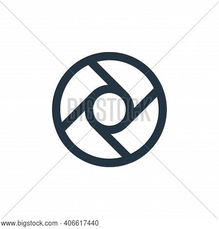 lens icon isolated on white background from user interface collection. lens icon thin line outline l