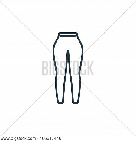 leggings icon isolated on white background from clothes and outfit collection. leggings icon thin li