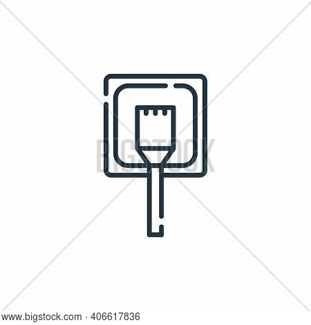 lan icon isolated on white background from database and servers collection. lan icon thin line outli