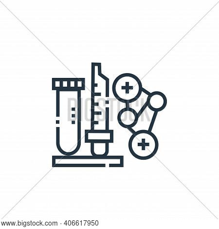 lab icon isolated on white background from medical services collection. lab icon thin line outline l