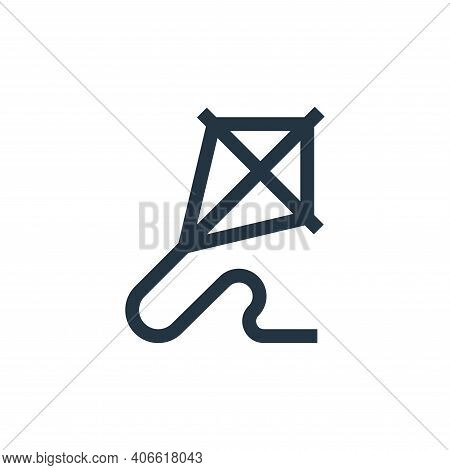 kite icon isolated on white background from hobbies collection. kite icon thin line outline linear k