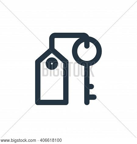 key icon isolated on white background from holiday collection. key icon thin line outline linear key