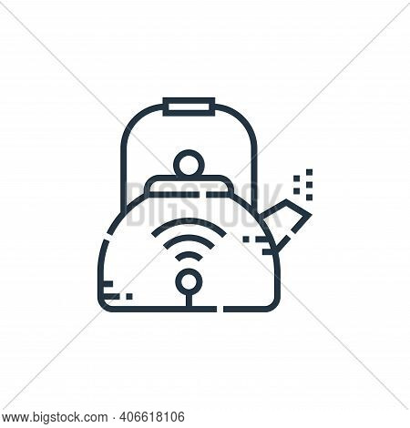 kettle icon isolated on white background from smarthome collection. kettle icon thin line outline li