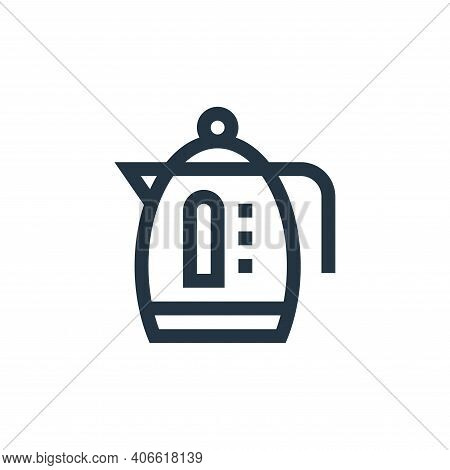 kettle icon isolated on white background from electronics collection. kettle icon thin line outline
