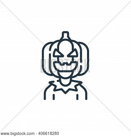 jack o lantern icon isolated on white background from fantastic characters collection. jack o lanter