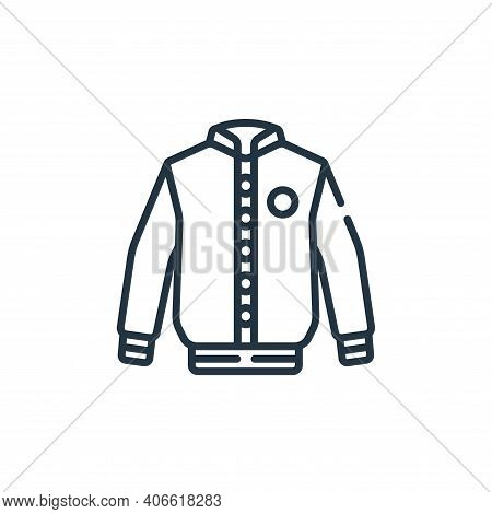 jacket icon isolated on white background from baseball collection. jacket icon thin line outline lin