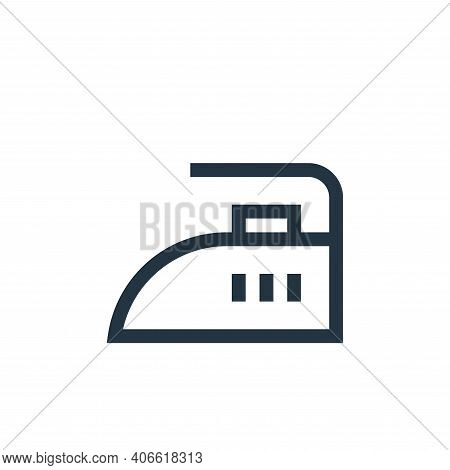 iron icon isolated on white background from electronics collection. iron icon thin line outline line