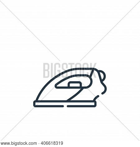 iron icon isolated on white background from sewing collection. iron icon thin line outline linear ir