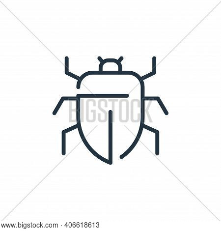 insect icon isolated on white background from virus transmission collection. insect icon thin line o