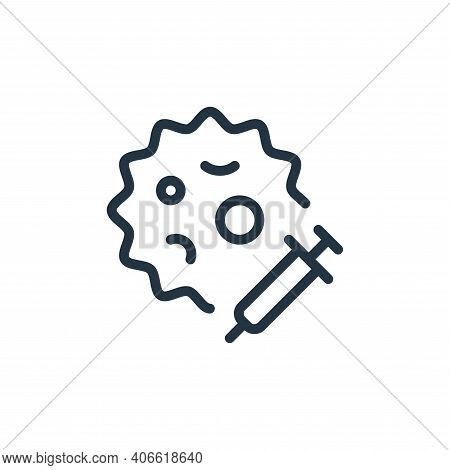 injection icon isolated on white background from coronavirus collection. injection icon thin line ou