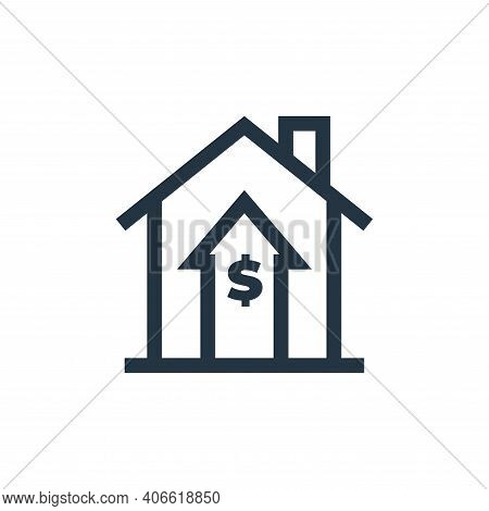 increase icon isolated on white background from real estate collection. increase icon thin line outl