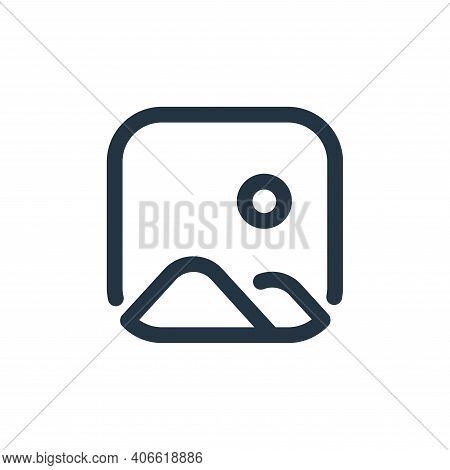 images icon isolated on white background from user interface collection. images icon thin line outli