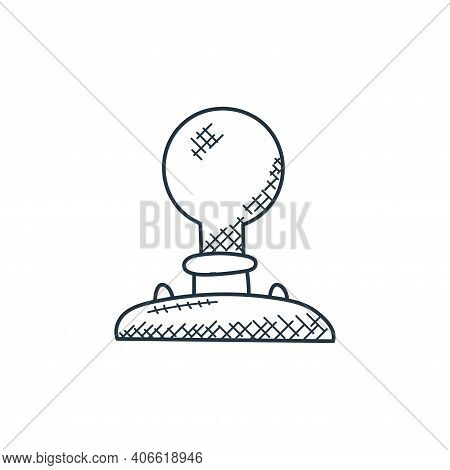 idea icon isolated on white background from technology collection. idea icon thin line outline linea