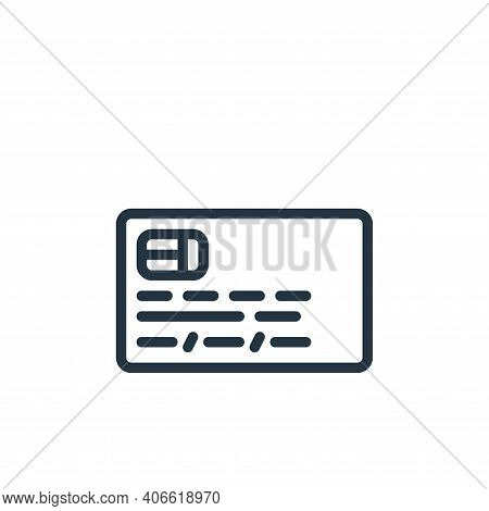 id card icon isolated on white background from business collection. id card icon thin line outline l